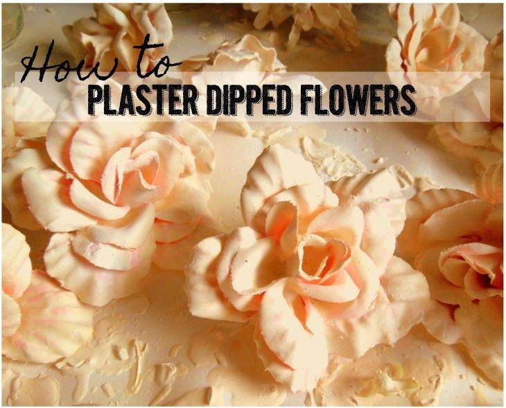 How To Plaster of Paris Silk Flowers DIY Tutorial | crafts | Pinterest