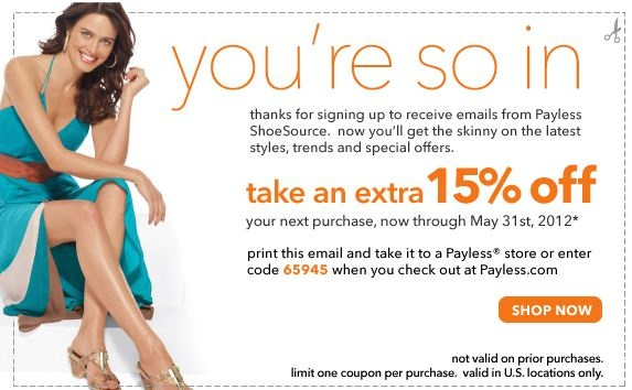 Payless Shoes: 15% off Printable Coupon - Save ... | Shoes Printable ...