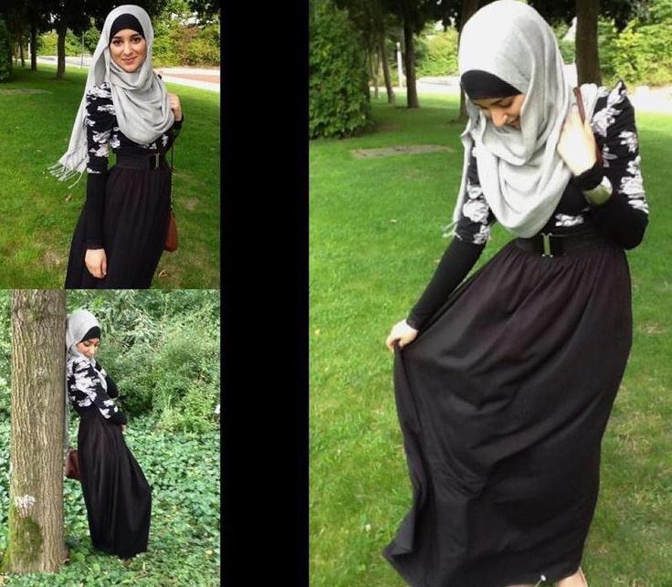 Black hijab style |