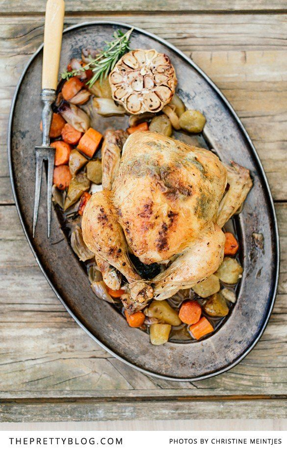 Classic Roast Chicken | Recipes | The Pretty Blog