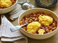 Eggplant & Chickpea Stew with Cheddar Dumplings AND Eggplant & Chedda...