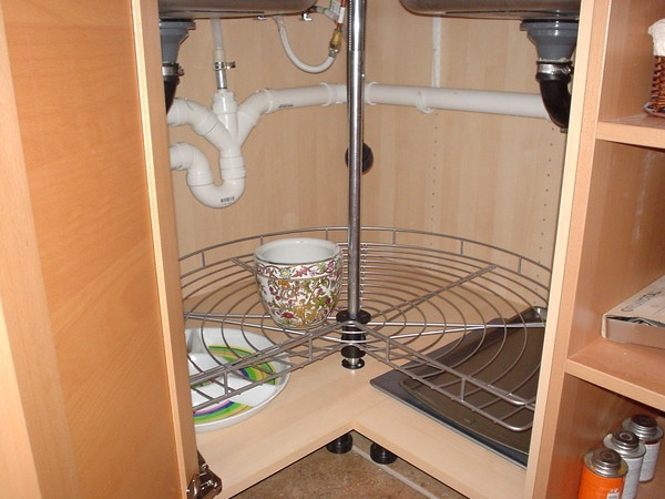 Ikea Corner Sink : Ikea corner lazy susan and sink plumbing White kitchens Pinterest