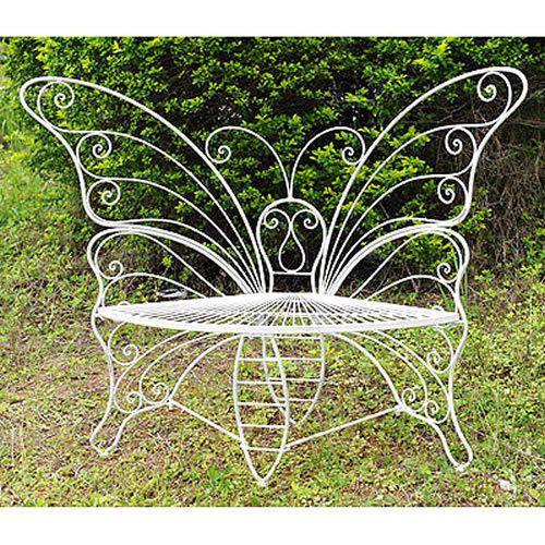 Metal Butterfly Garden Bench D33815