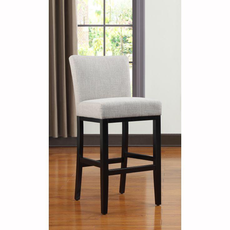 Portfolio Orion Barley Tan Linen Upholstered 29 Inch Bar Stool