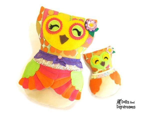 Stuffed Owl Sewing Patterns Printable