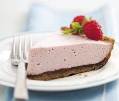 Raspberry Mousse Pie - http://thegardeningcook.com/chocolate-raspberry ...