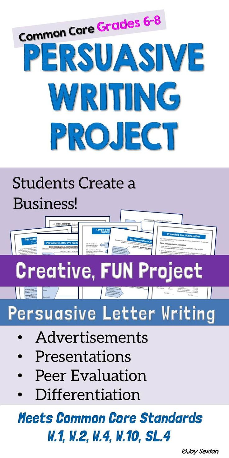 persuasive writing project