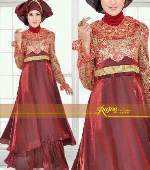 Red kebaya dress for muslimah inspirasi wisuda pinterest