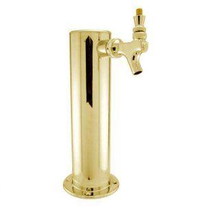 Countertop Keg Tap : Single Tap Brass Draft Beer Kegerator Tower - 3