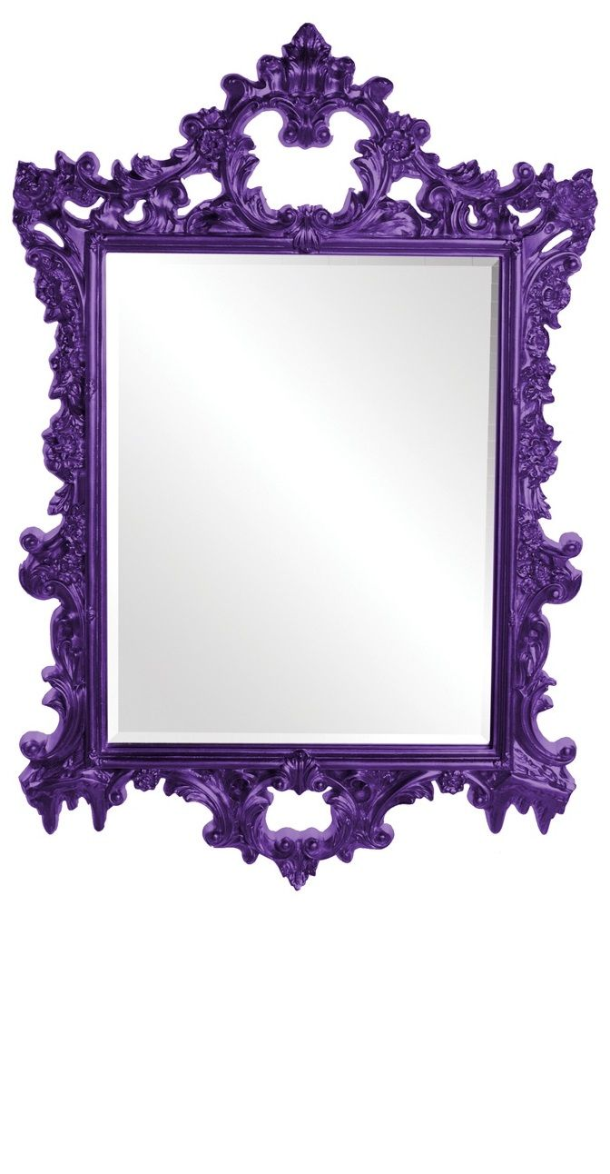 purple baroque mirror for the home pinterest