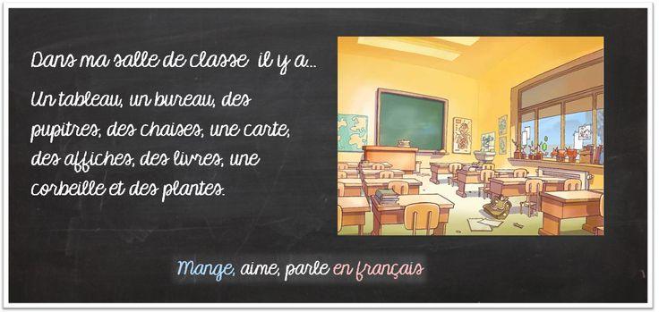 Mange, aime, parle en français.: La salle de classe et les fournitures scolaires. Exercice interactif