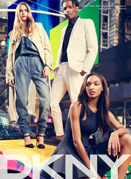 DKNY Campaign Spring 2014 featuring ASAP Rocky, Cara Delevingne and Jourdan Dunn