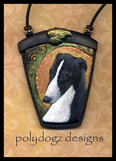 Greyhound/Whippet necklace | Polymer clay - Creatures | Pinterest