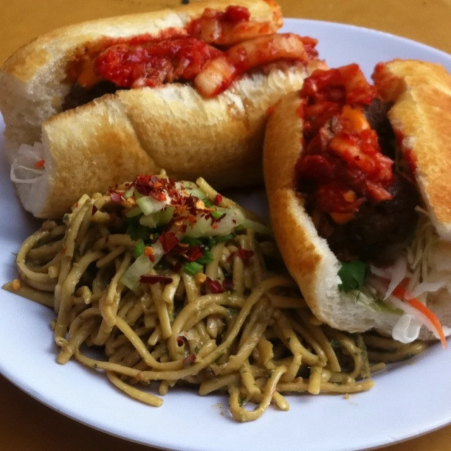 Bulgogi Banh Mi with Dan Dan Noodles from Starry Kitchen
