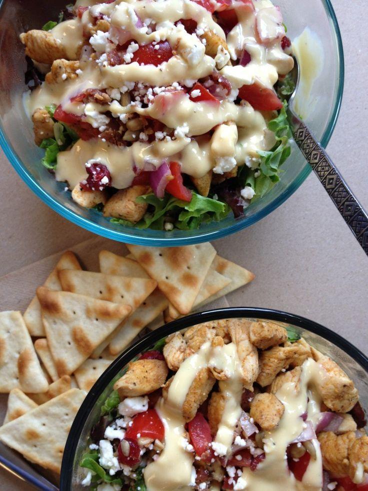 Skinny Grilled Chicken BLT Salad #lightenedup #delicious #hotmomma