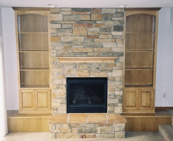 stone fireplace with wood built ins fireplaces pinterest