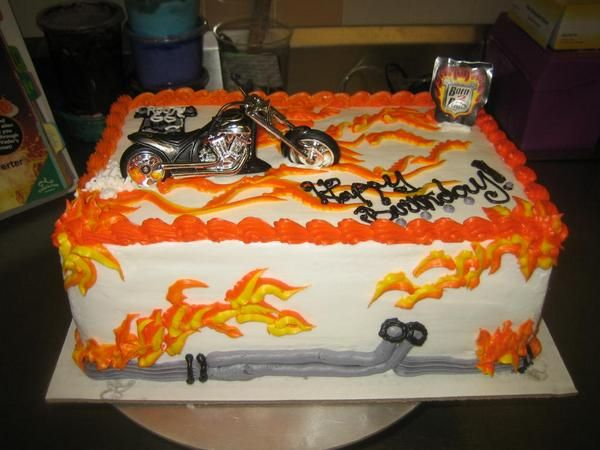 Harley Davidson Birthday Cake Decorations Image Inspiration of