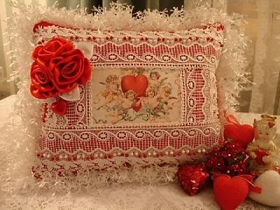 Image result for Fabric Valentine's Day