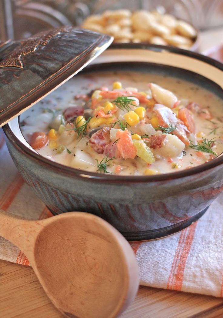 Smoked Salmon Corn Chowder | Yummy soups | Pinterest