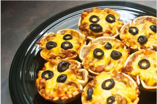 mini mexican pizzas | >>yummy
