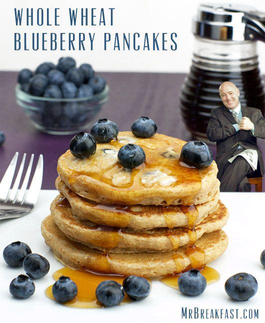 Whole Wheat Blueberry Pancakes | Breakfast Recipes | Pinterest