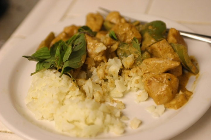 """Thai Red Curry with Cauliflower """"Rice"""" 