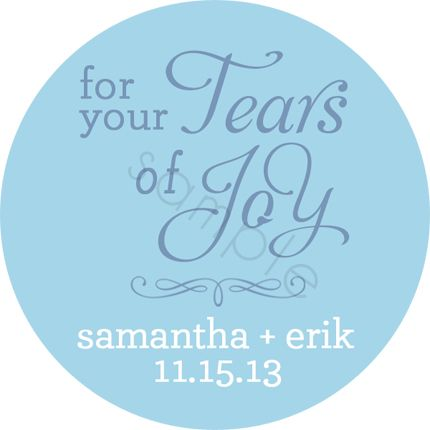 Wedding stickers for your tears of joy personalized stickers