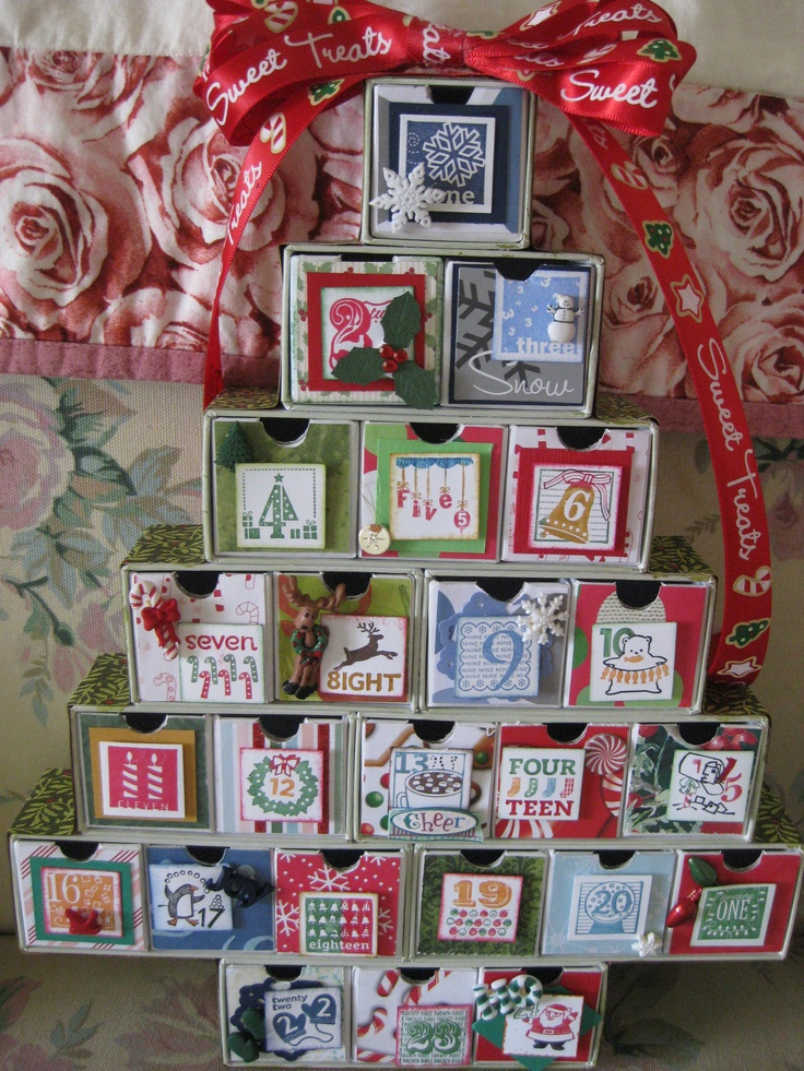 Christmas Countdown Tree | Things I have Made | Pinterest