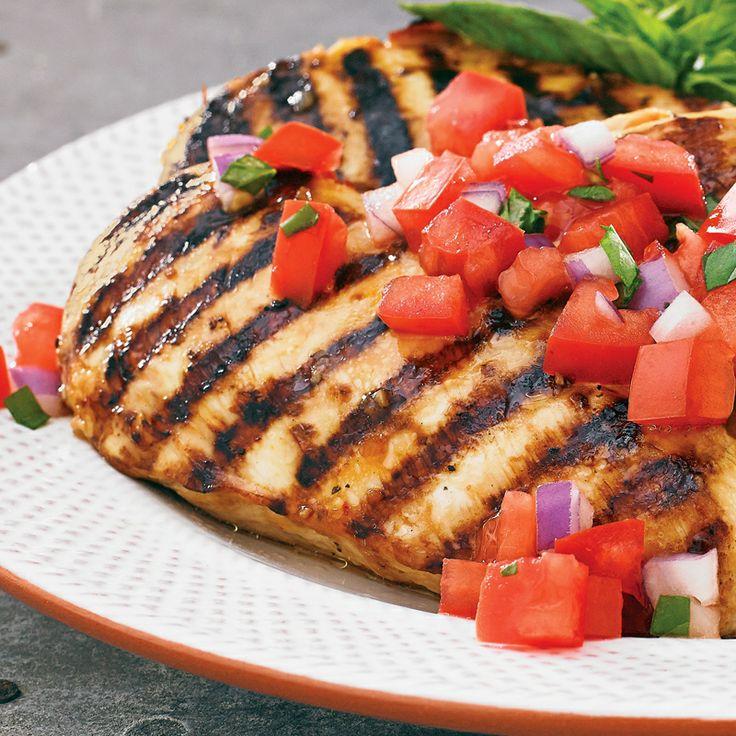 Marinated Chicken Bruschetta | Recipes | Pinterest