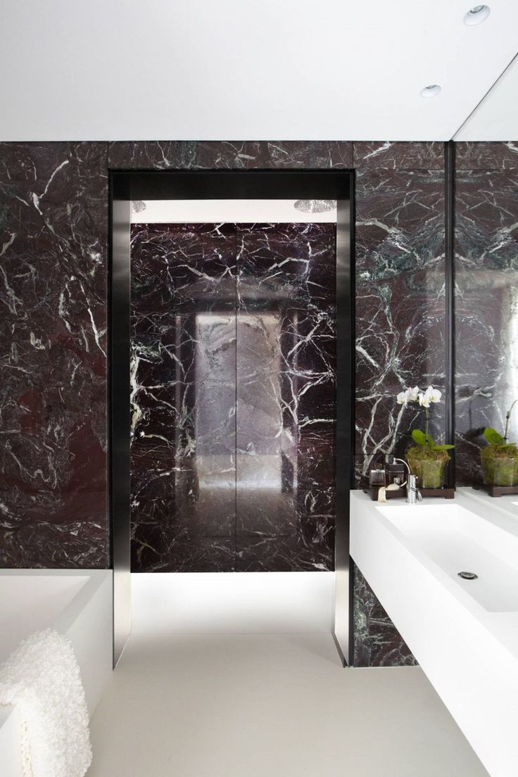Black Stone Bath : Bathroom, : Black Marble Bathroom E It Passage Design