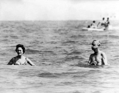 The Duke and Duchess of Windsor near Venice, 1961.