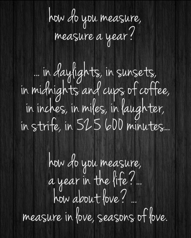 seasons of love | quotes | Pinterest