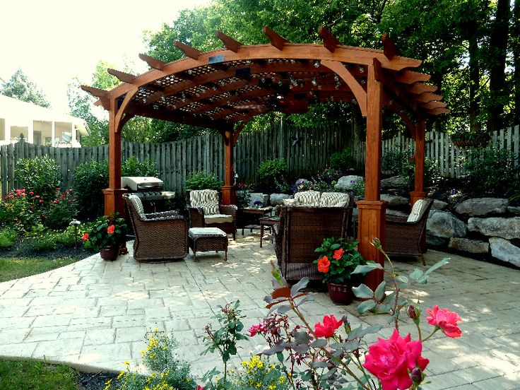 Shade For Sunny Backyard :  shade garden, a rock garden, and a sunny rose & perennial garden I