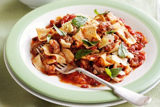 Italian sausage ragu with rag pasta | Hungry?... | Pinterest