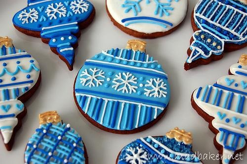 Decorating Ideas For Christmas Tree Cookies : Blue christmas cookie decorating ideas capers