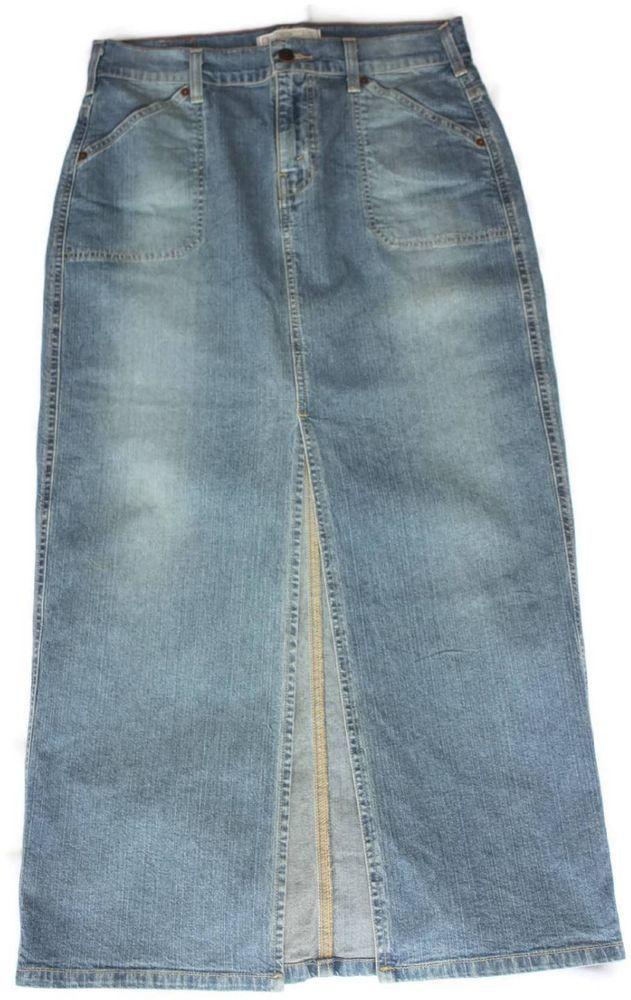 levi strauss denim womens jean skirt front
