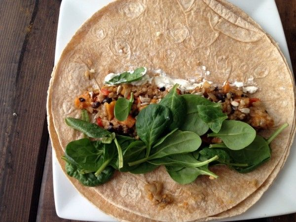 Butternut Squash Black Bean Burritos (they are tastier than they sound ...
