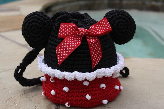 Free Crochet Mickey Mouse Purse Pattern : Minnie Mouse Purse Crochet Pattern Crochet Little Girls ...