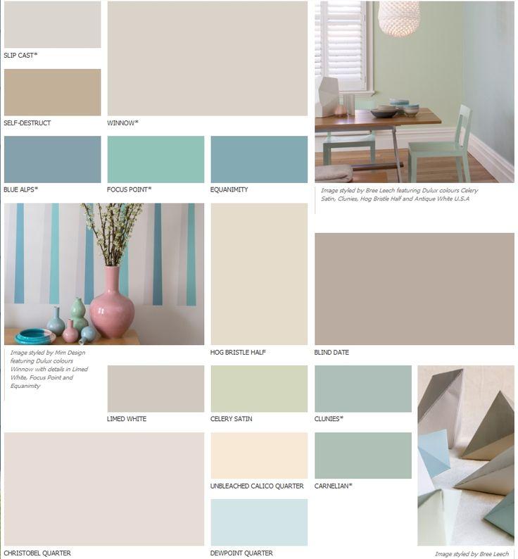Dulux Perfect Colour Palette Wallcolors Pinterest