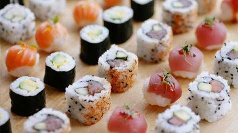 Sushi canapes country girl recipes asian flare pinterest for Asian canape ideas