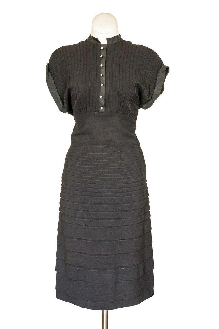 Cabaret Vintage - 1940s Black Cocktail Dress, $225.00 (http://www ...
