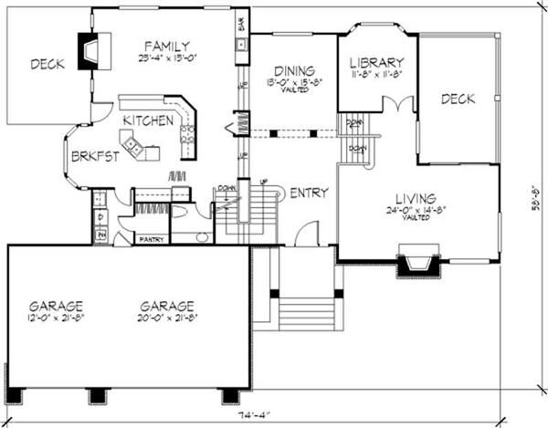 1 1 2 Story House Plans For The Home Pinterest