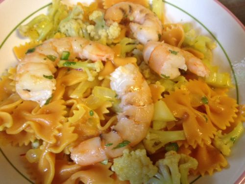 saffron cauliflower and shrimp pasta | Adventures in cooking from the ...
