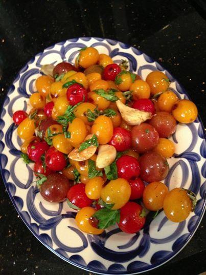sautéed tomatoes with garlic & basil | Belmondo | Pinterest
