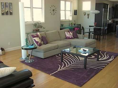 Pinterest - Purple and tan living room ...