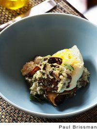 Creamy White Grits And Chanterelle Mushrooms Recipe — Dishmaps