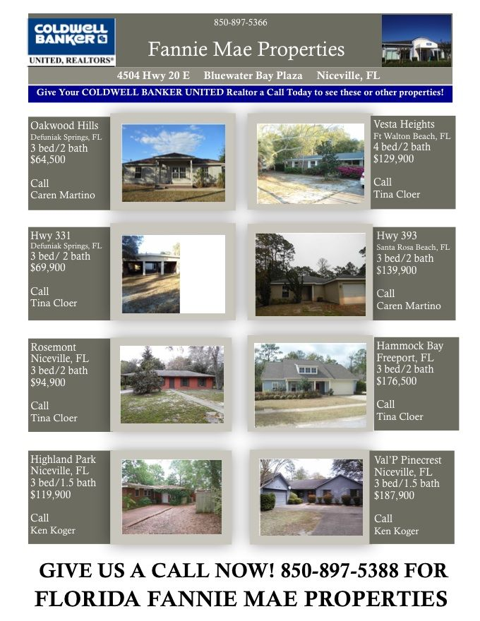 Foreclosed florida fannie mae properties for sale as of april 13 2013