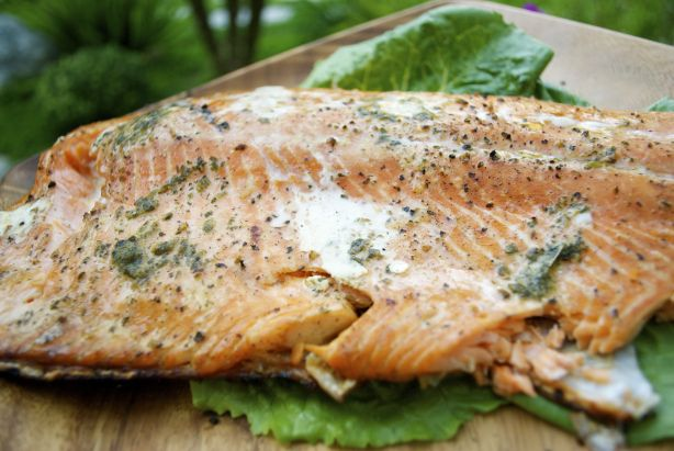Cedar Planked Salmon with Herb Butter | absolute favorite (seafood ...