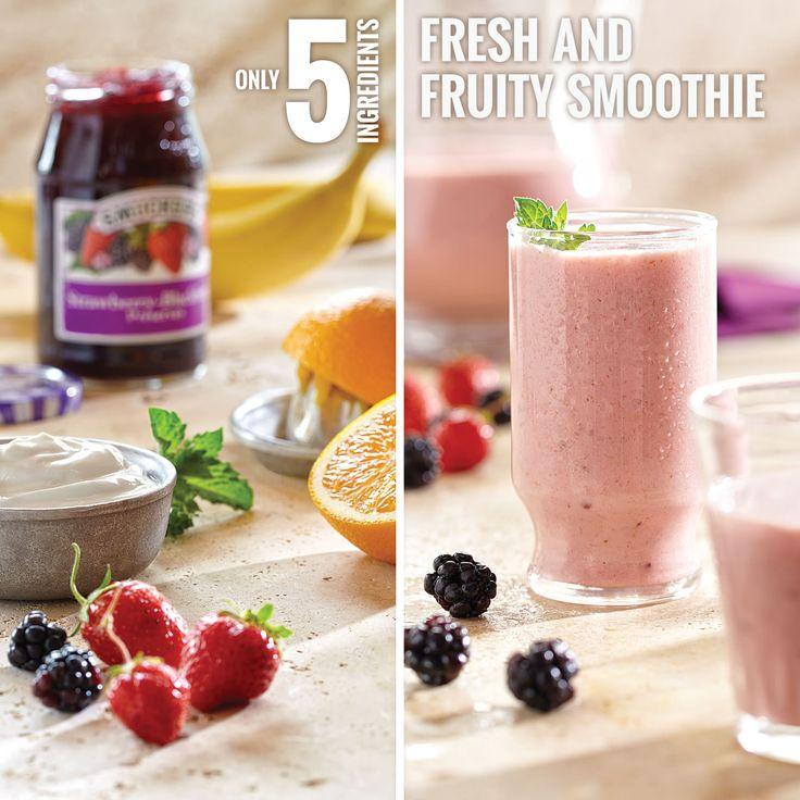 Smucker's® Strawberry-Blackberry Preserves, vanilla Greek yogurt ...