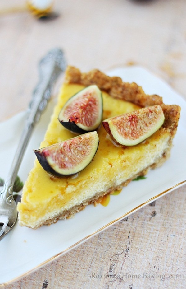 figs with ricotta and honey creamy lime ricotta tart in a gingersnap ...